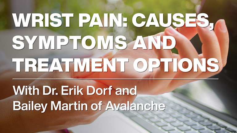 Wrist Pain: Causes, Symptoms and Treatment Options