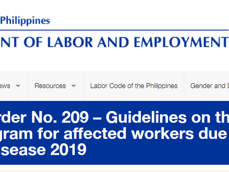 DOLE adjustment measures program for Affected Workers due to COVID