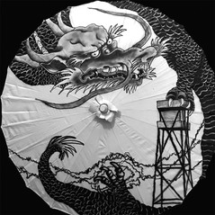 Dragon gripping Guard Tower