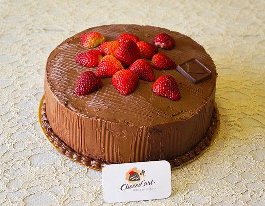 Torta de Chocolate com Morango Diet