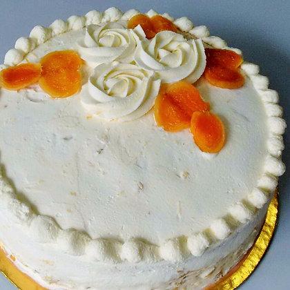 Torta de Damasco com Laranja Diet
