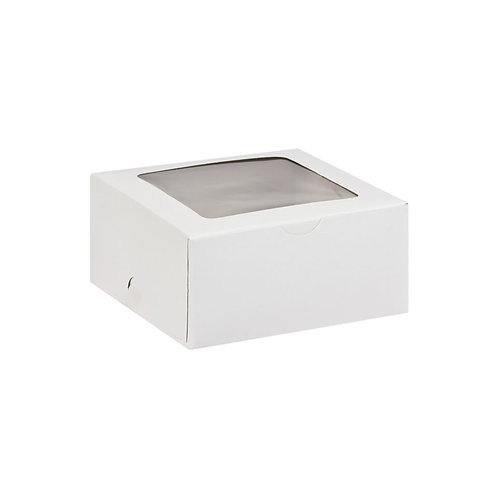 D00594W - Unprinted 6 Cupcake Box(With Window) - 235x165x80mm