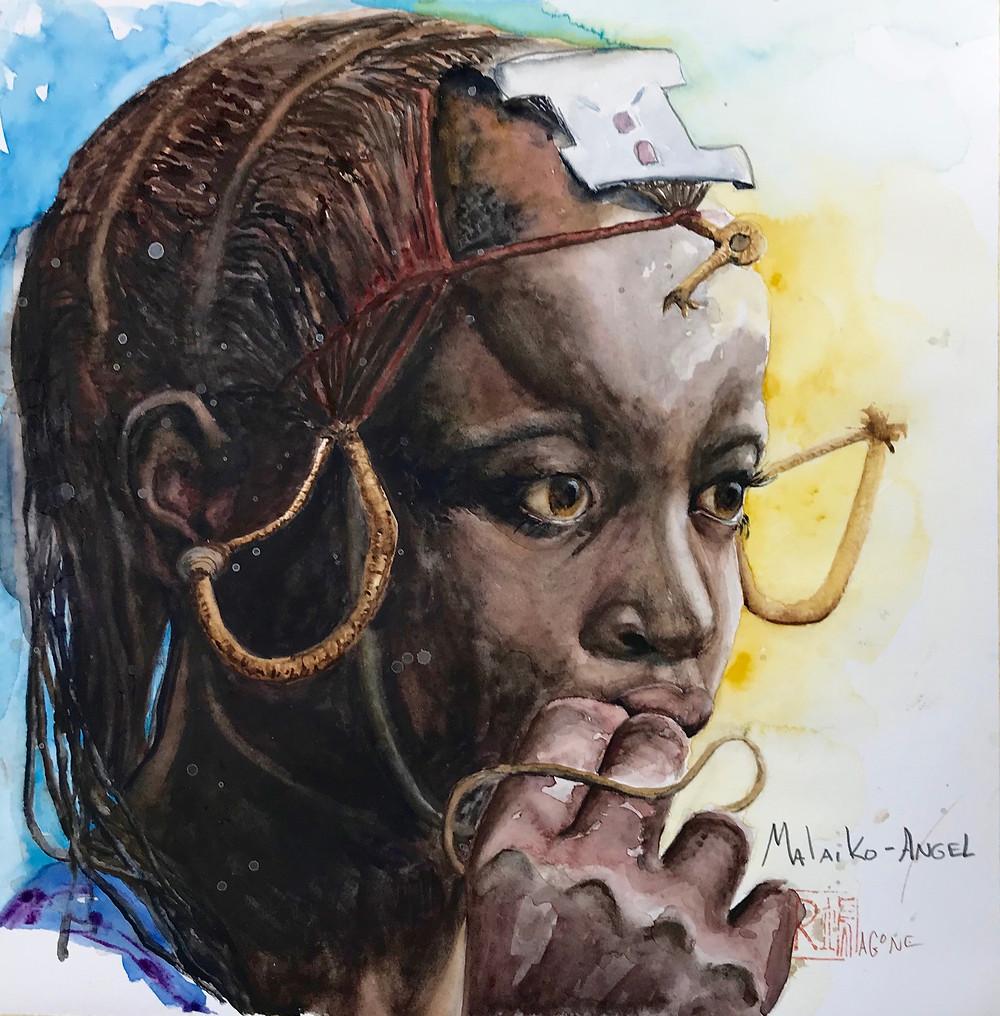 Maasai girl, Malaika, which means angel.