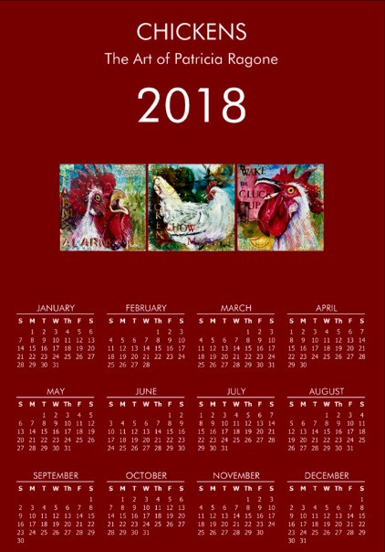 2018 Chicken and Rooster Calendar $15.00ea, $20.00/2, $30.00/3...