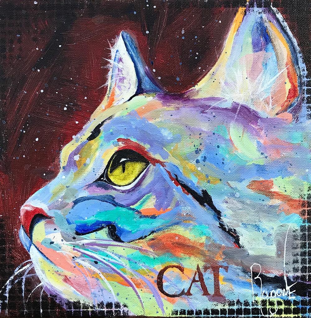 """CAT 10""""x10"""" Acrylic"""