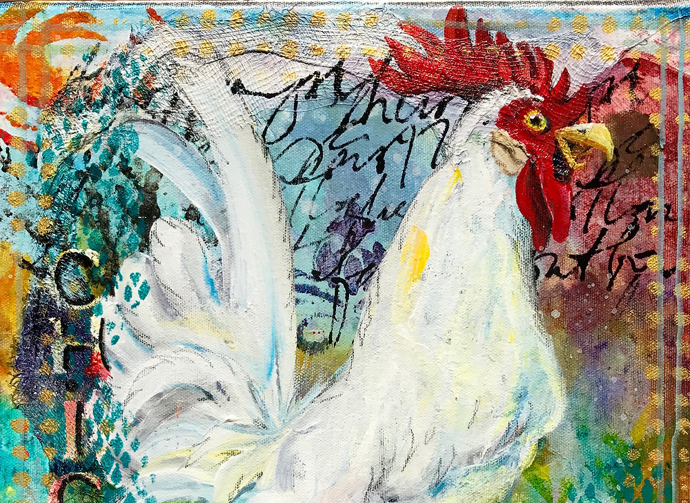 Chick Magnet - White rooster