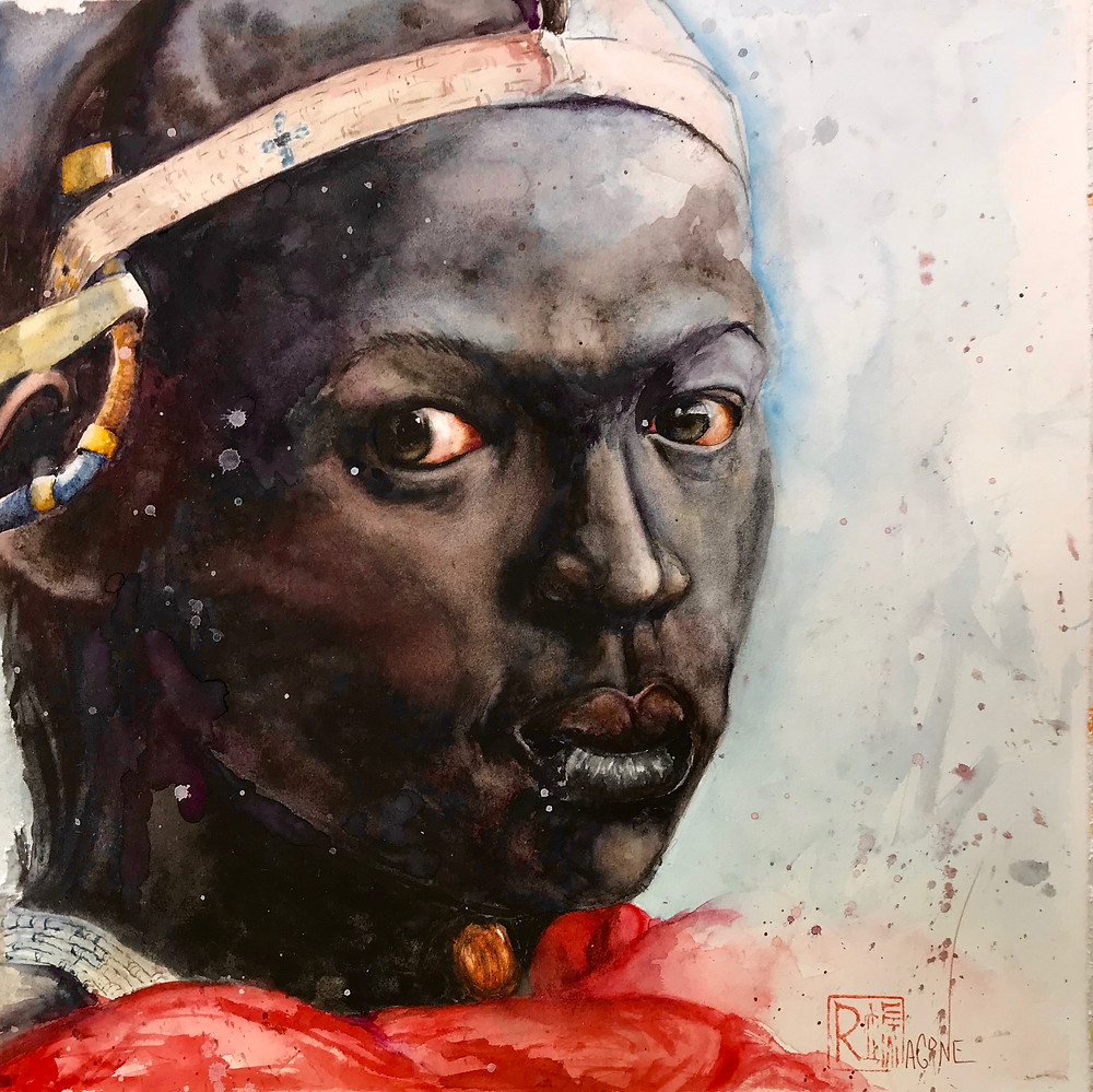 Maasai woman, Katlego, which means she with boiling stare.
