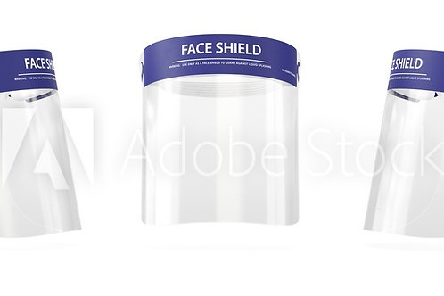 Full Face Shield Clear Visor - singles