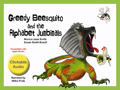 Clickable audio e-book - Greedy Beesquito and the Alphabet Jumbimals