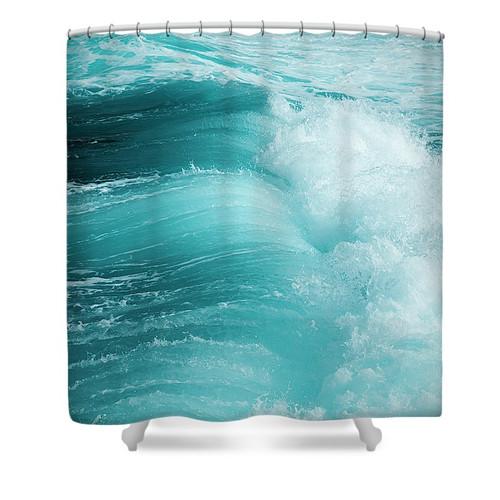 fresh aqua shower curtain