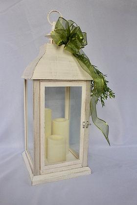 Antique White Large Lantern