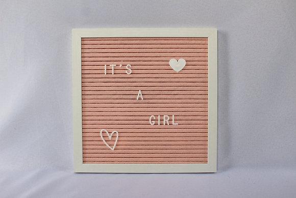 Pink Letterboard Sign
