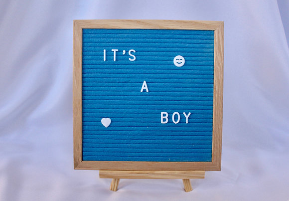 Blue Letterboard