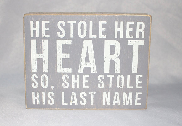 """Last Name"" Sign"