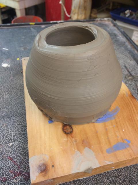 first clay pot thrown