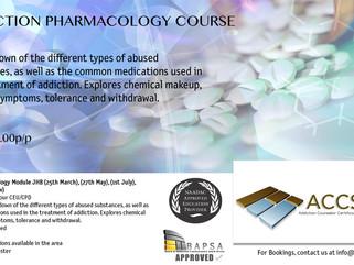 Addiction Pharmacology Module JHB Dates & Info