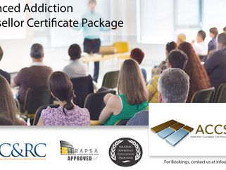 Next Basic, Intermediate and Advanced Addiction Counsellor Certificate Package Dates