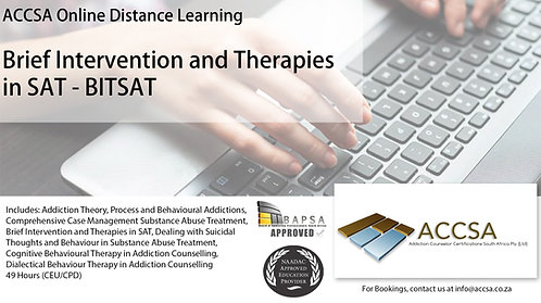 Brief Intervention and Therapies in Substance Abuse Treatment (BISAT) (49 Hours)