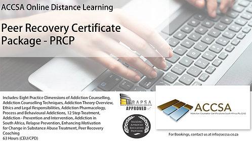 Peer Recovery Certificate Package - (PRCP) (63 Hours CEU/CPD)