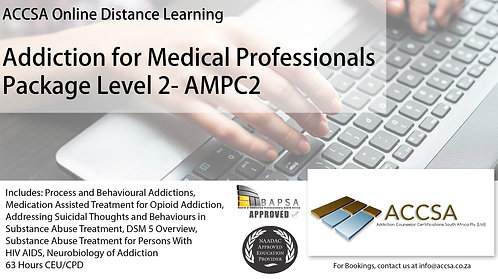 Addiction for Medical Professionals Certificate Package (Level2) 63 Hour CEU/CPD
