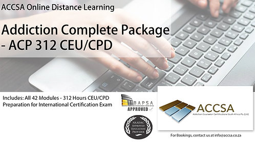 Complete Package, 42 Modules - 306 Hours CEU/CPD