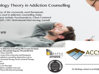 Psychology Theory in Addiction Counselling JHB Dates & Info