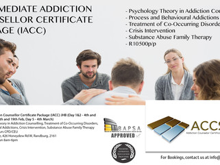 Intermediate Addiction Counsellor Certificate Package (IACC) - JHB Dates