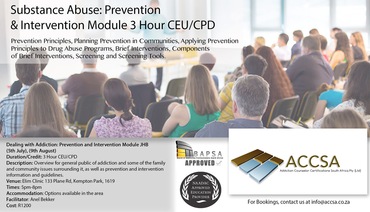 Prevention And Intervention JHB