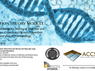 Addiction Theory Module JHB Dates & Info