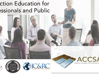 Upcoming Basic, Intermediate and Advanced Zoom Lectures for Addiction Counsellors!