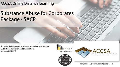 Substance Abuse for Corporates Certificate Package (SACP) 6 Hours CEU/CPD