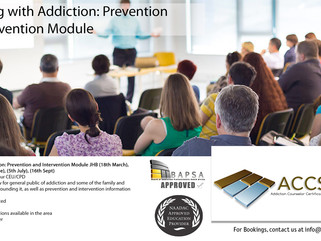 Dealing With Addiction: Prevention & Intervention Module JHB Dates & Info