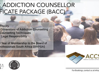 Study Addiction Counselling - Basic Addiction Counselling Starter Package in JHB - 1st and 2nd June
