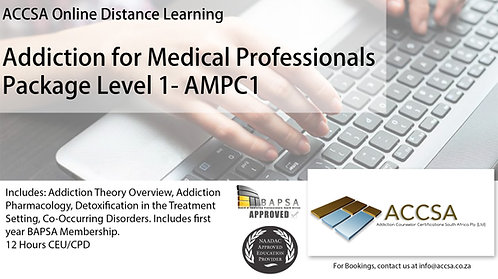 Addiction for Medical Professionals Certificate Package (Level1) 12 Hour CEU/CPD