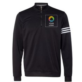 adidas® ClimaLite® Three-Stripe French Terry Pullover