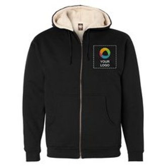 Independent Trading Co. Sherpa Lined Full-Zip Hooded Sweatshirt