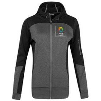 Sport-Tek® Ladies Tech Fleece Colorblock Full-Zip Hooded Jacket