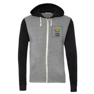 Alternative® Rocky Unisex Colorblocked Eco-Fleece Hooded Full-Zip
