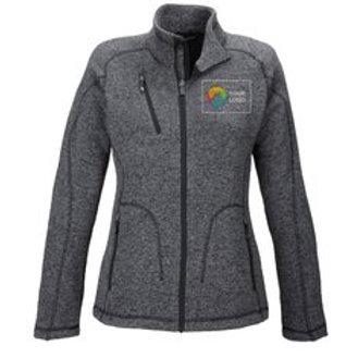 North End® Sport Red Ladies' Peak Sweater Fleece Jacket