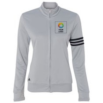 adidas® Ladies' ClimaLite® 3-Stripes French Terry Full-Zip Jacket