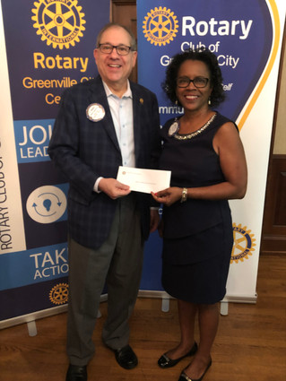Rotary Club of Greenville City Center Presents Gift to Christian Learning Centers of Greenville Coun