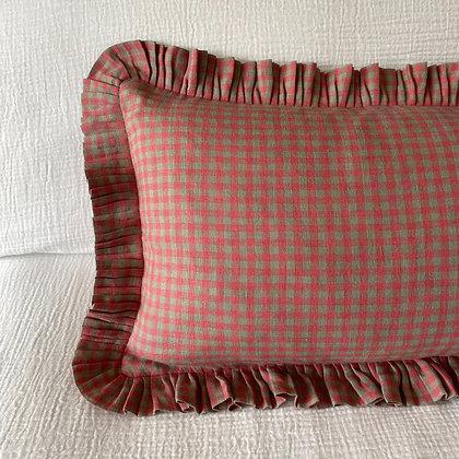 Stella Pop Check Linen Cushion Cover