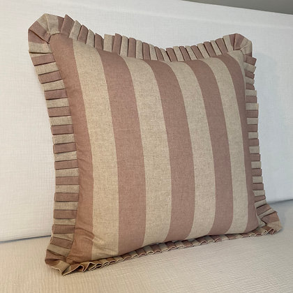 Large Stripe Cushion Cover - Pink