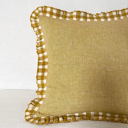 Penzance x Royal Mustard Square Cushion Cover