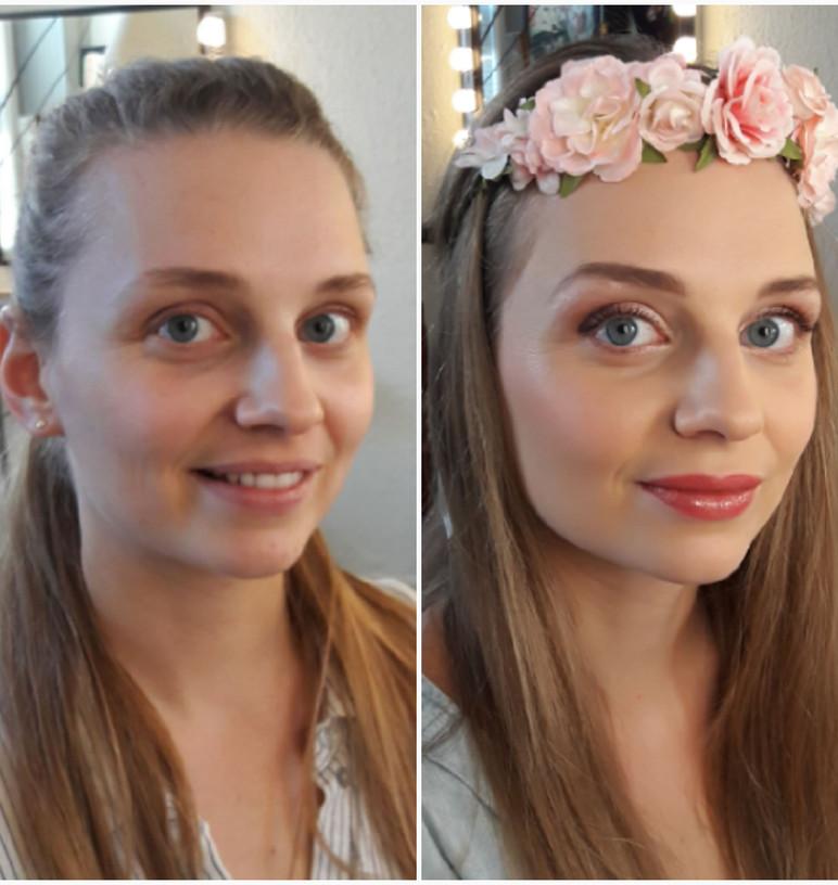 Essai maquillage de Marion