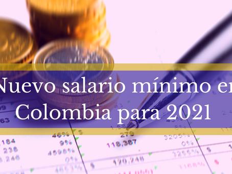 NUEVO SALARIO MINIMO EN COLOMBIA
