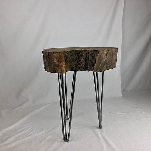 Live edge spalted maple end table