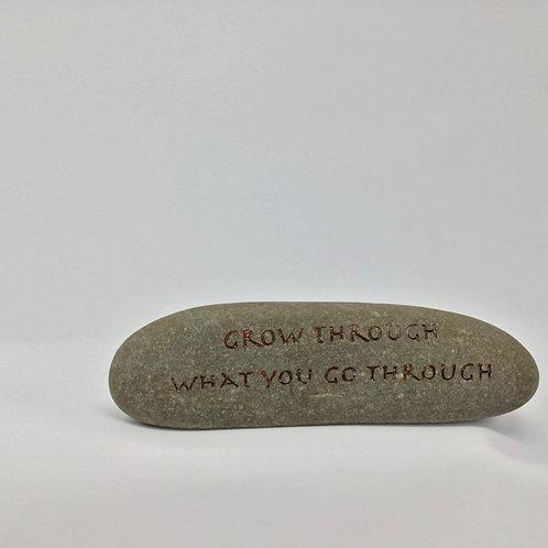 sandblasted stone
