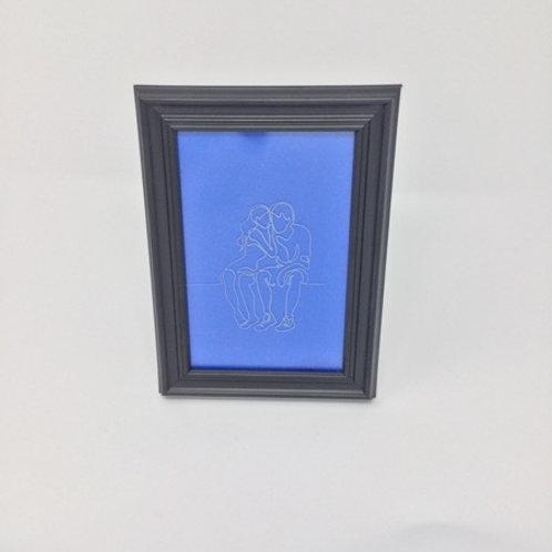 etched frame
