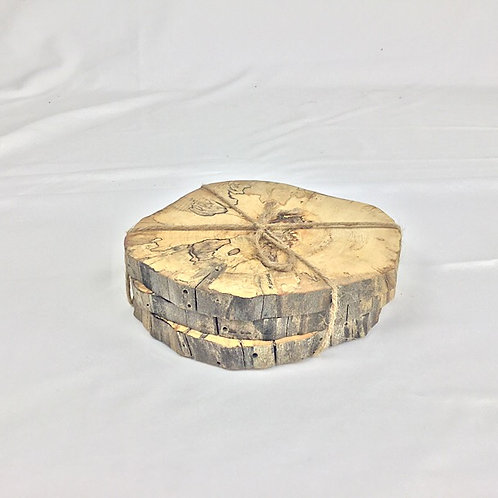 Set of spalted maple coasters